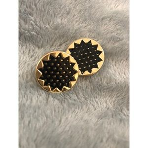 House of Harlow 1960 Leather Perforated Earrings